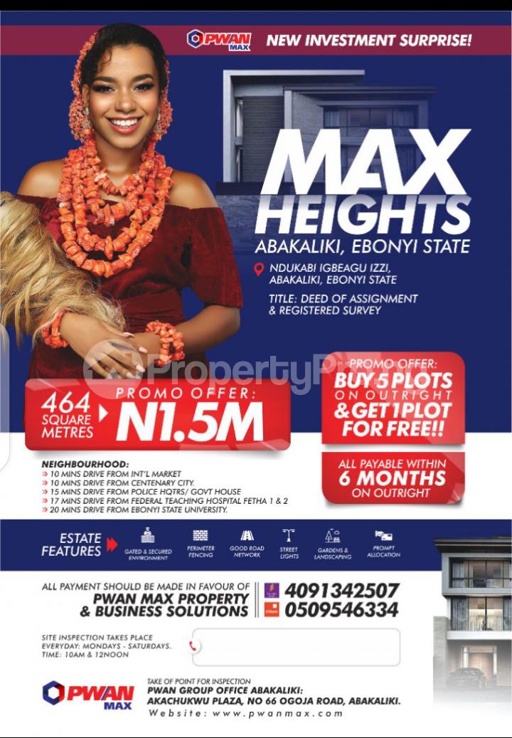 Mixed   Use Land Land for sale Max Height Estate Ndukabi igbeagu izzi Abakaliki Ebonyi - 2