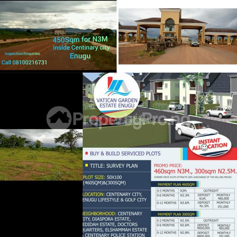 Residential Land Land for sale Inside Centinary City,  Enugu State Enugu Enugu - 1