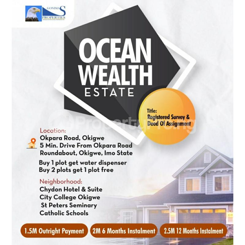 Residential Land Land for sale Okpara Road,  Okigwe,  Imo state Okigwe Imo - 0
