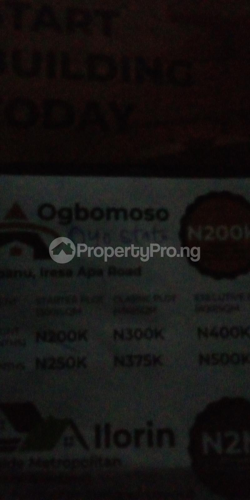 Residential Land for sale Onipanu, Iresa Apa Road Ogbomosho Oyo - 0