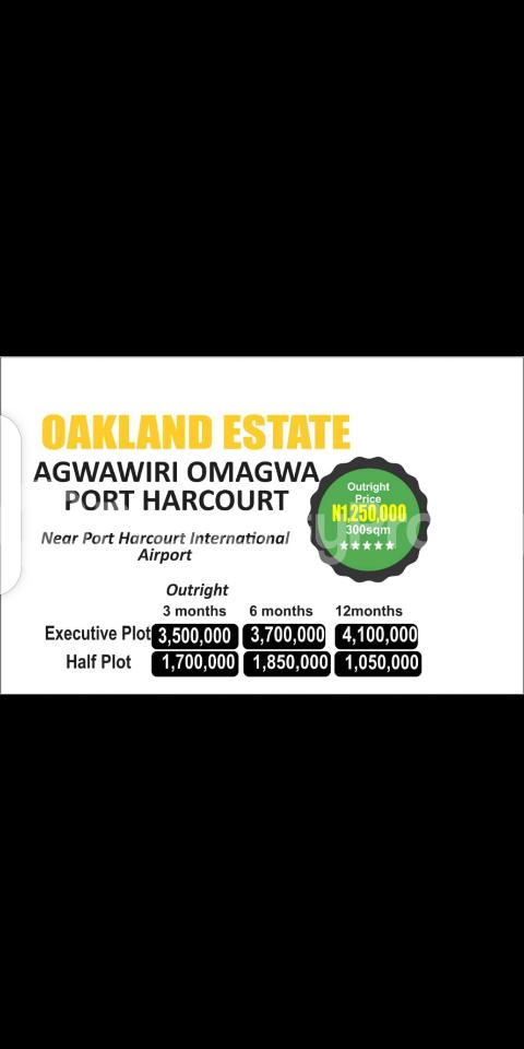 Residential Land Land for sale Agwawiri Omagwa, Near Port Harcourt International Airport  Port-harcourt/Aba Expressway Port Harcourt Rivers - 0