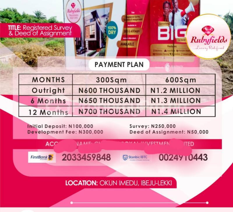 Mixed   Use Land Land for sale Located At Okun Imedu Ibeju Lekki Lagos Nigeria Ise town Ibeju-Lekki Lagos - 0