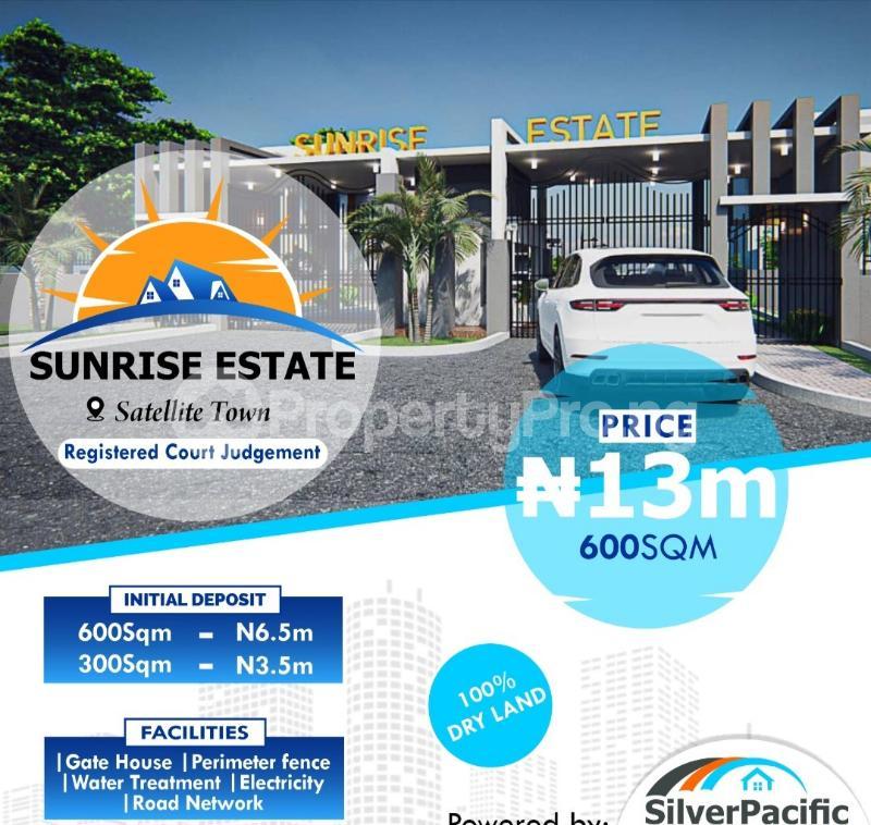 Land for sale Sunrise Estate Satellite Town Amuwo Odofin Lagos - 1