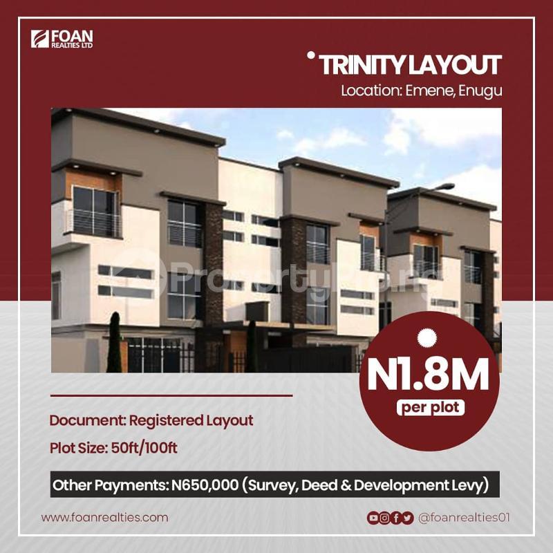 Commercial Land for sale Trinity Layout Estate Emene Enugu Enugu - 0