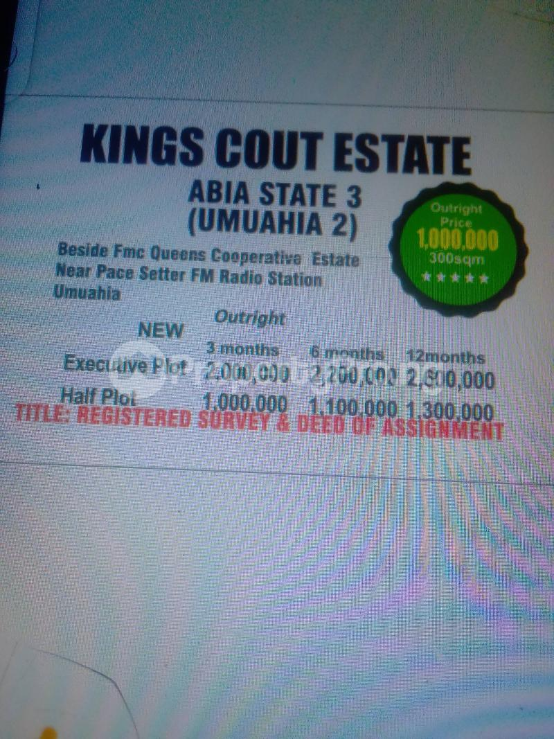 Mixed   Use Land Land for sale Beside FMC Queens corporate estate near pace setter FM  Umuahia South Abia - 0