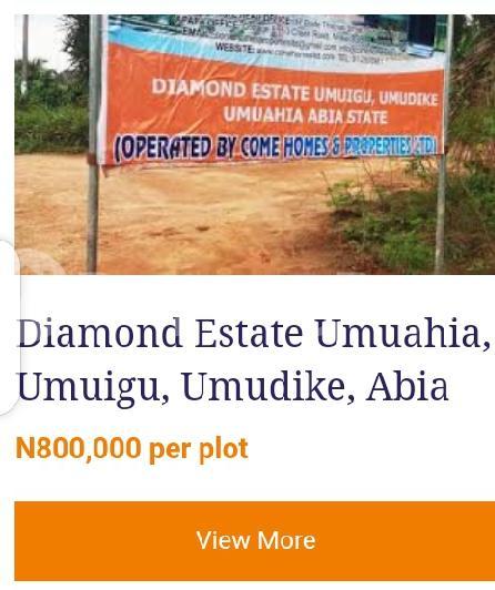 Residential Land Land for sale Diamond Estate Umuigu, umudike, Umuahia  Umuahia North Abia - 0