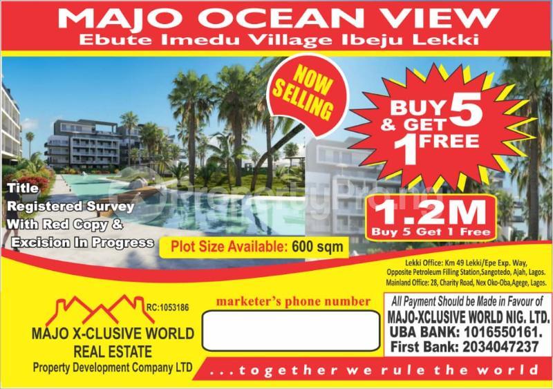 Serviced Residential Land for sale Ebute Imedu Village, Ibeju Lekki Orimedu Ibeju-Lekki Lagos - 0