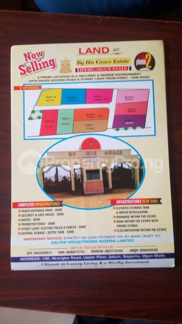 Residential Land Land for sale Iperu ode road, Iperu remo ogun state  Ode Remo Remo North Ogun - 0