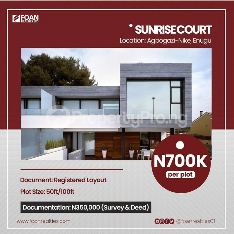 Commercial Land for sale Sunrise Court Estate Agbogazi Nike Enugu Enugu - 0