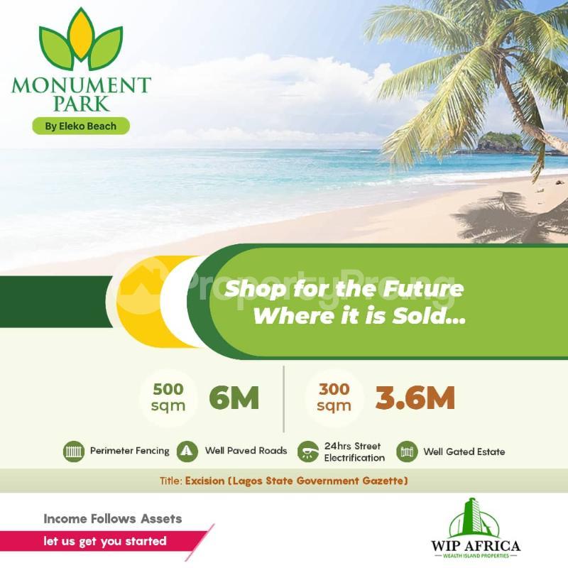 Serviced Residential Land for sale By Eleko Beach Eleko Ibeju-Lekki Lagos - 0
