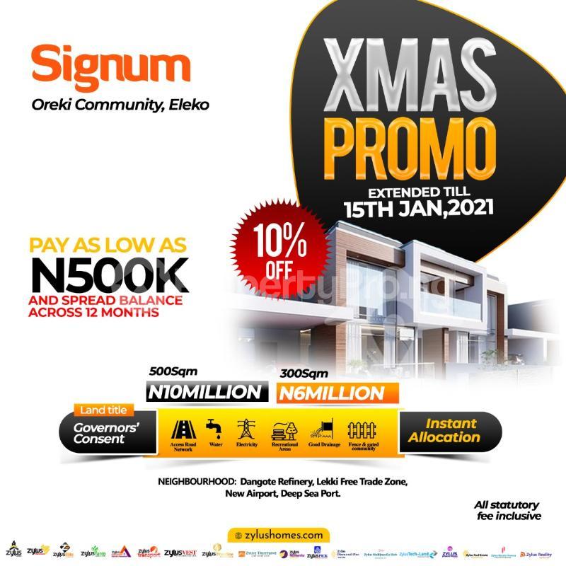 Serviced Residential Land Land for sale Beside Amen Estate Eleko Ibeju-Lekki Lagos - 1