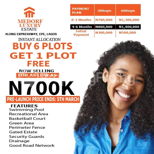 Serviced Residential Land Land for sale Directly Along Lekki Epe Express Epe Road Epe Lagos - 0