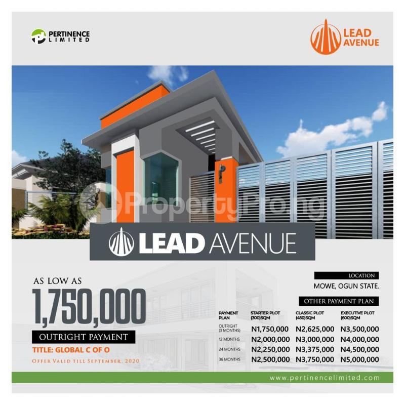 Serviced Residential Land Land for sale Mowe Obafemi Owode Ogun - 1