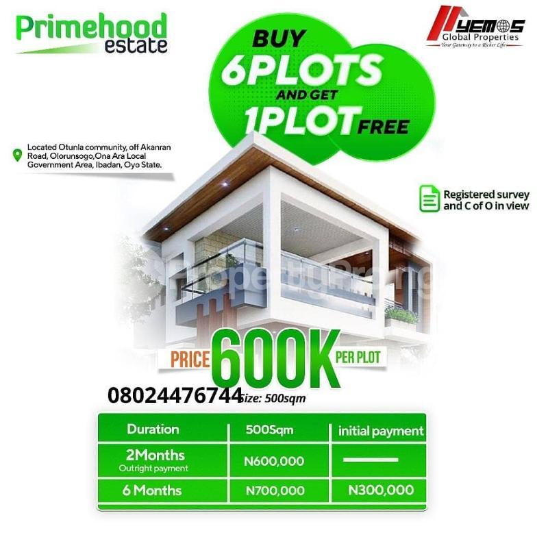 Residential Land for sale Akanran,olurunsogo Ibadan Oyo - 0