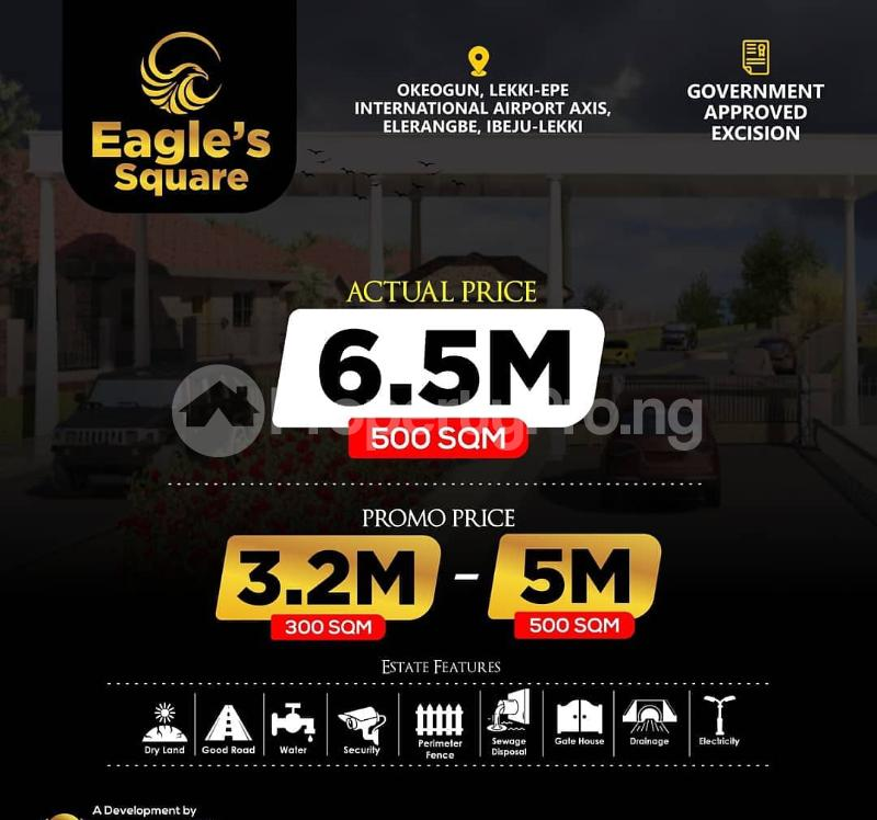 Residential Land for sale Eagle's Square Estate, Oke Ogun Within Airport Area. Ibeju-Lekki Lagos - 0