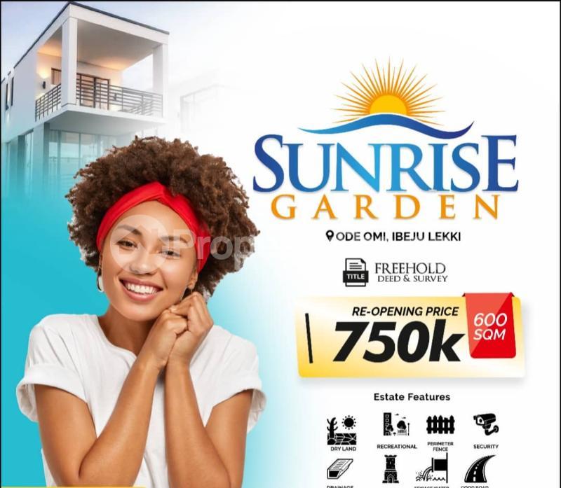 Residential Land for sale Sunrise Estate, Ode Omi Ibeju-Lekki Lagos - 0