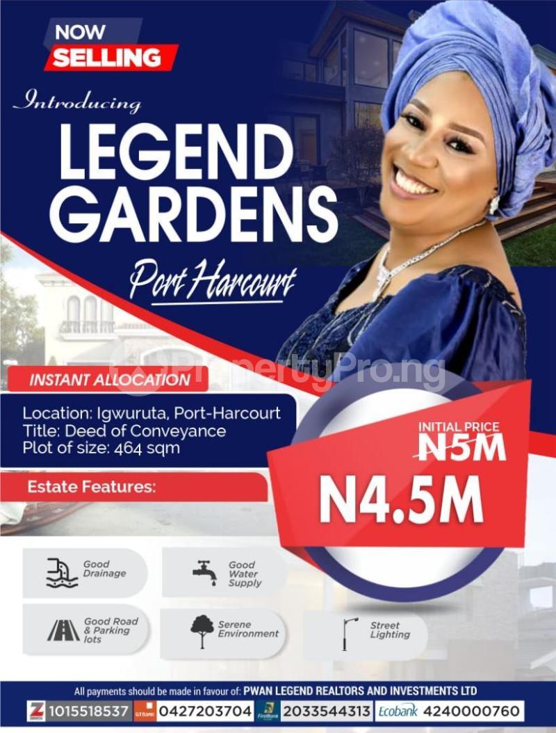 Land for sale Igwuruta Port Harcourt Rivers - 0