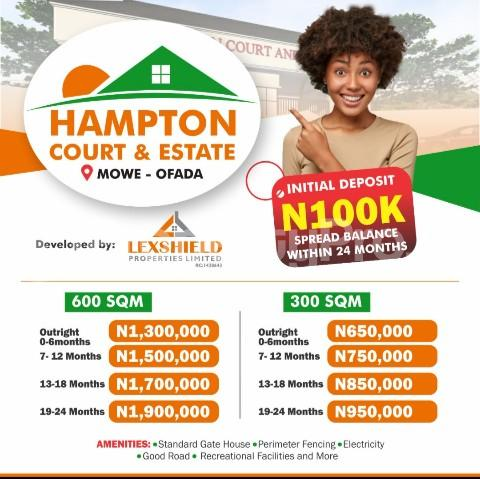Residential Land Land for sale Hampton Court Estate. Mowe Obafemi Owode Ogun - 0