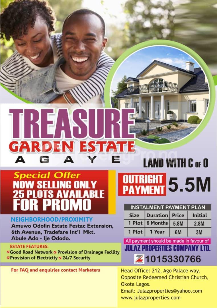 Serviced Residential Land Land for sale Agaye, Satellite Town Satellite Town Amuwo Odofin Lagos - 0