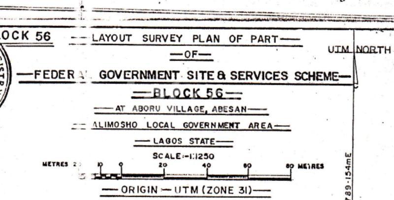 Land for sale Federal Government Site & Servives Scheme, Abesan, Alimosho LG, Lagos Lagos Island Lagos - 1