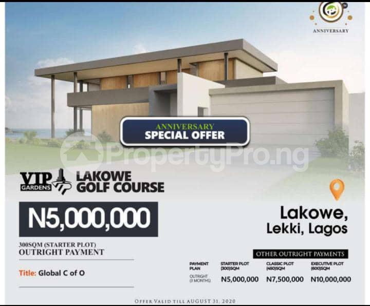 Serviced Residential Land Land for sale Vip Gardens Golf Course Lakowe Ajah Lagos - 0