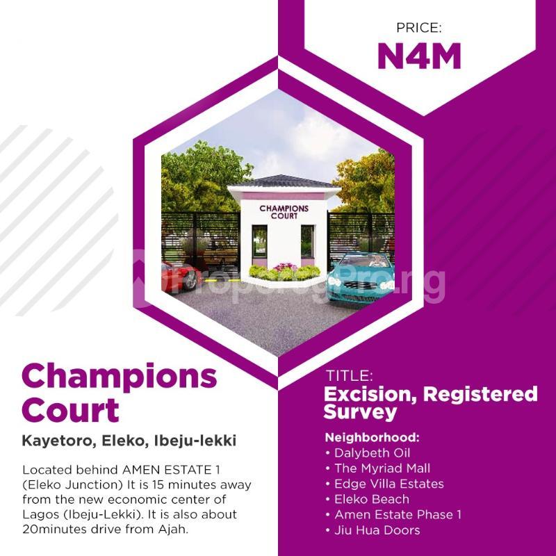 Residential Land for sale Located Behind Amen Phase 1 Kayetoro Eleko Ibeju Lekki Lagos Eleko Ibeju-Lekki Lagos - 4