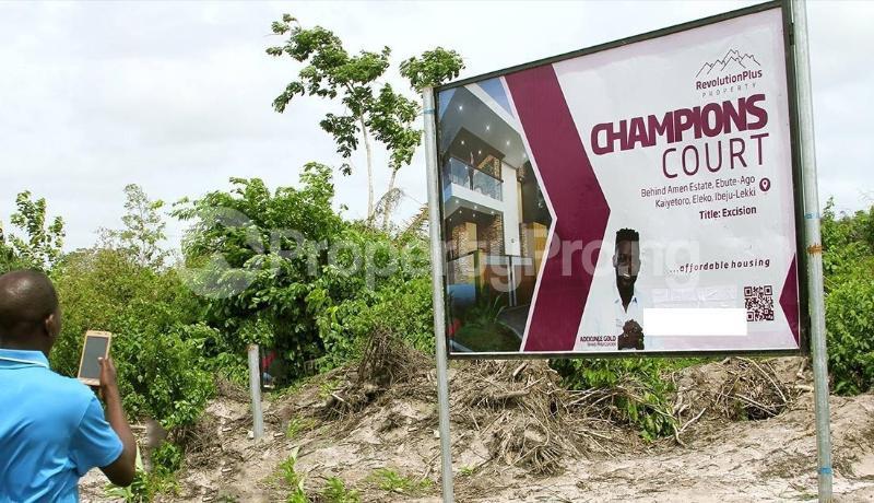 Residential Land for sale Located Behind Amen Phase 1 Kayetoro Eleko Ibeju Lekki Lagos Eleko Ibeju-Lekki Lagos - 0
