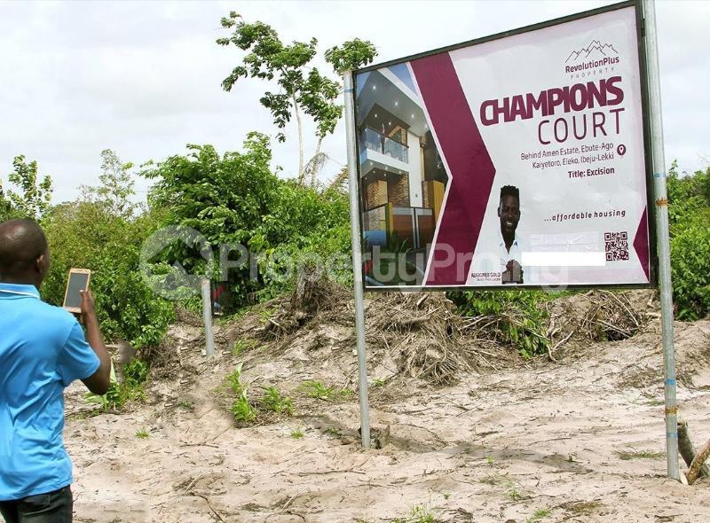 Residential Land for sale Located Behind Amen Phase 1 Kayetoro Eleko Ibeju Lekki Lagos Eleko Ibeju-Lekki Lagos - 1