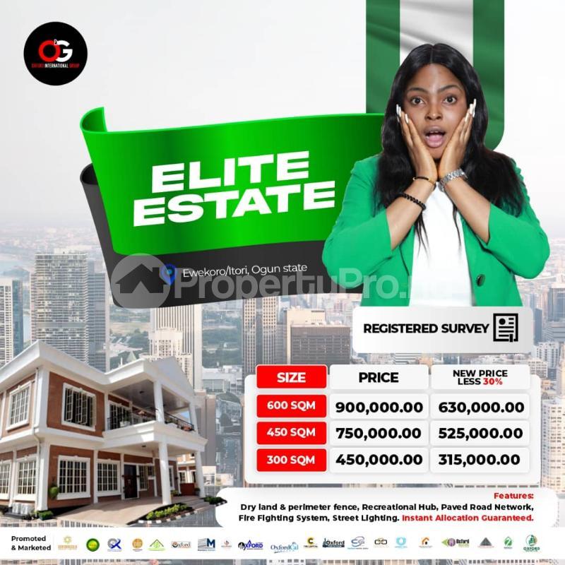 Residential Land for sale   Ewekoro Ogun - 0