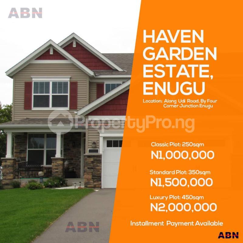 Land for sale ALONG UDI ROAD BY FOUR CORNER JUNCTION Nearest to UNTH  Udi Agwu Enugu - 1