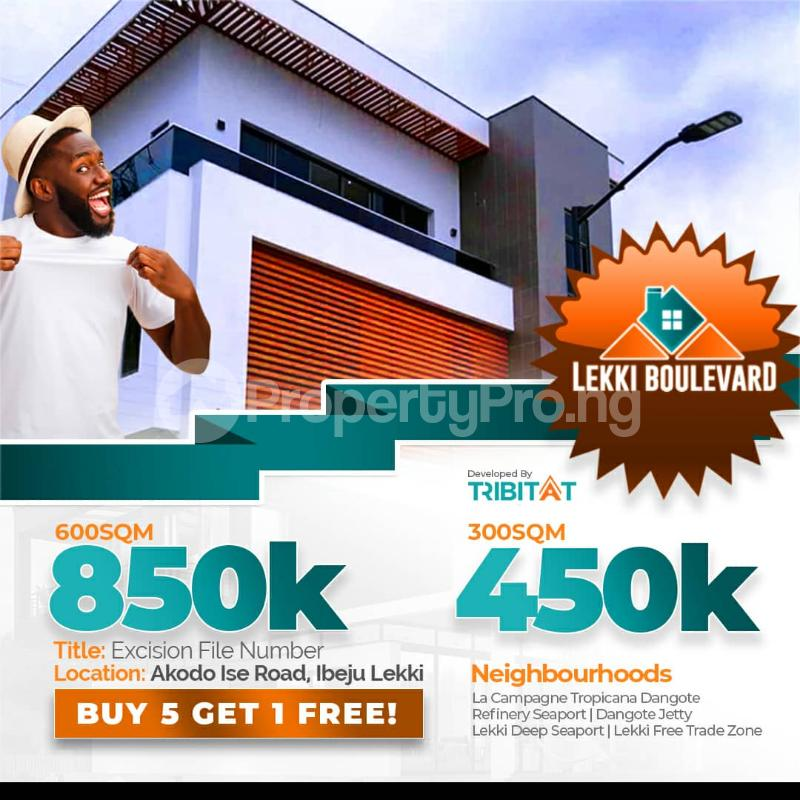 Mixed   Use Land for sale Akodo Ise, 5 Minutes Drive From La Campagne Tropicana Beach Resort. Akodo Ise Ibeju-Lekki Lagos - 0