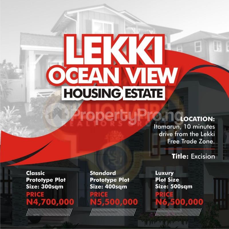 Residential Land for sale By Itamarun Eleranigbe Ibeju-Lekki Lagos - 0