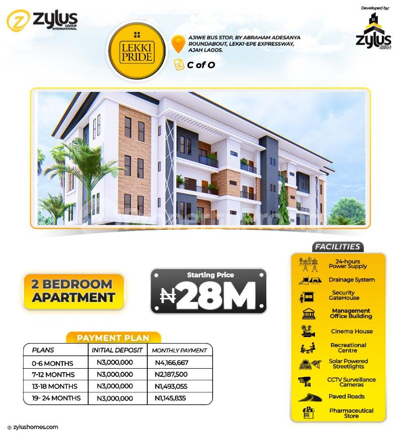 2 bedroom Blocks of Flats for sale Lekki Pride Estate Abraham adesanya estate Ajah Lagos - 0