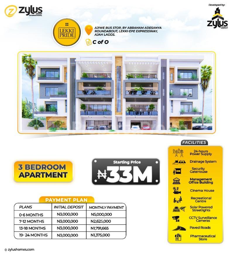 3 bedroom Blocks of Flats for sale Lekki Pride Estate Abraham adesanya estate Ajah Lagos - 0