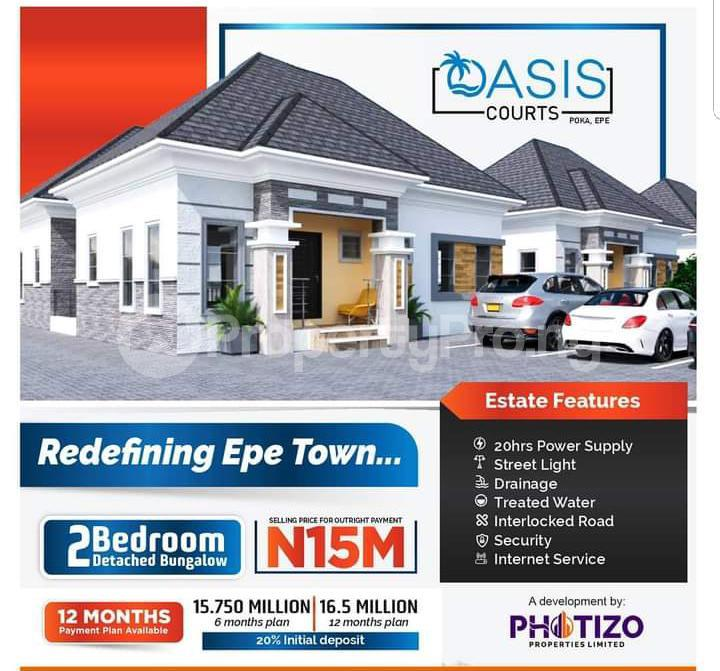 2 bedroom Detached Bungalow for sale Oasis Court Epe Road Epe Lagos - 0