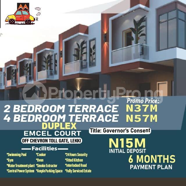 2 bedroom Terraced Duplex for sale Emcel Estate, Orchid Close To Chevron Tollgate. Lekki Lagos - 0