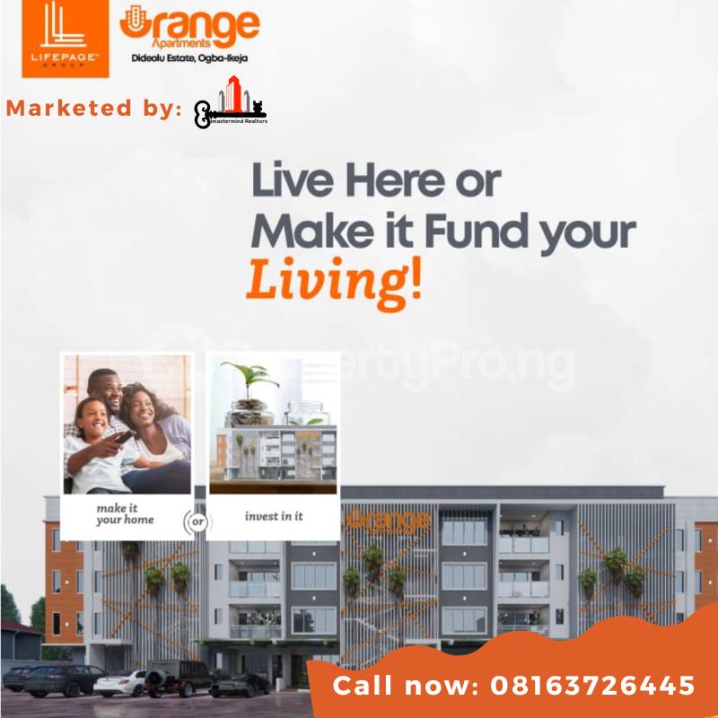 Flat / Apartment for sale Orange Apartment Dideolu Estate Ogba Ikeja Ikeja Lagos - 0