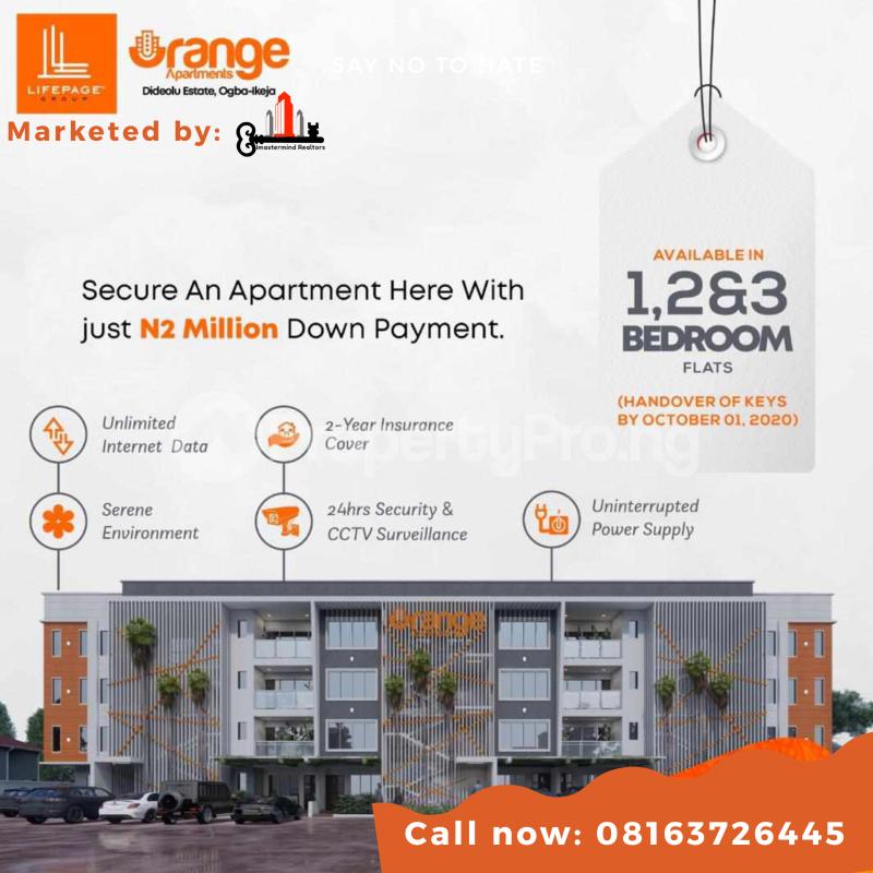 Flat / Apartment for sale Orange Apartment Dideolu Estate Ogba Ikeja Ikeja Lagos - 1