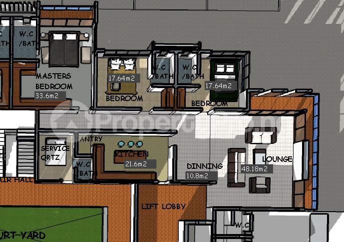 3 bedroom Flat / Apartment for sale Water Corporation Drive Off Ligali Ayorinde, Oniru, Vi Victoria Island Extension Victoria Island Lagos - 8