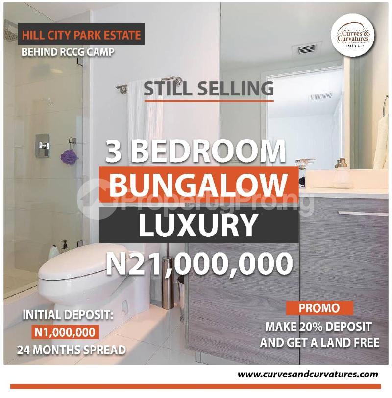 3 bedroom Detached Bungalow for sale Off Simawa Road After Rccg New Auditorium Mowe Obafemi Owode Ogun - 0