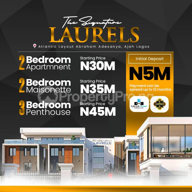 3 bedroom Penthouse for sale The Signature Laurels, Atlantic Layout Estate Abraham adesanya estate Ajah Lagos - 0