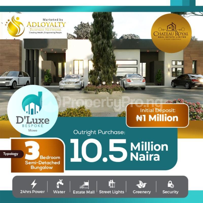 3 bedroom Semi Detached Bungalow House for sale De-Luxe Bespoke Residence, Opposite Christopher University Mowe Obafemi Owode Ogun - 0