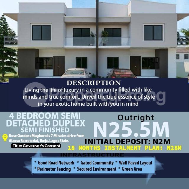 4 bedroom Semi Detached Duplex for sale 5mins Drive From Journalist Estate, Magboro Arepo Arepo Ogun - 0