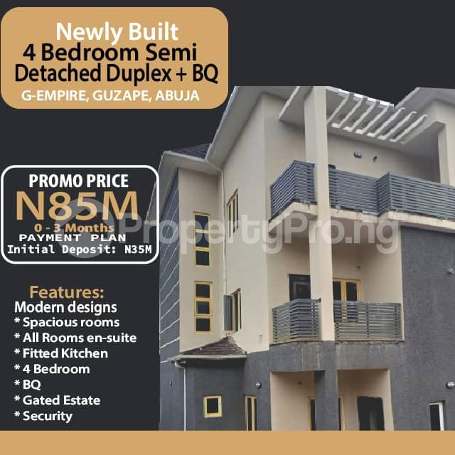 4 bedroom Semi Detached Duplex for sale G Empire Garden Close To Asoroko. Guzape Abuja - 0