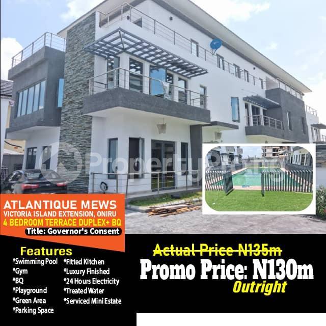 4 bedroom Terraced Duplex for sale Atlantic Mew Court, Oniru. Victoria Island Extension Victoria Island Lagos - 0