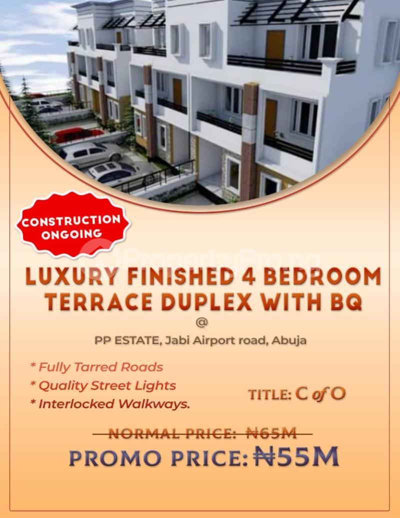 4 bedroom Terraced Duplex House for sale Jabi Airport Road Jabi Abuja - 1