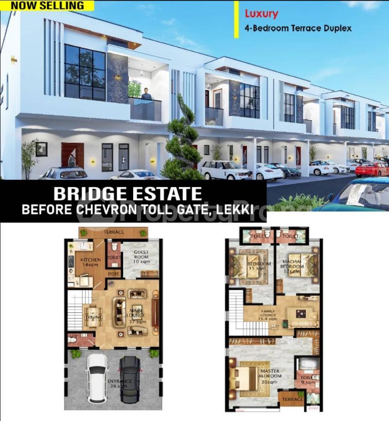 4 bedroom Terraced Duplex for sale Bridge Estate Before Chevron Tollgate. chevron Lekki Lagos - 1