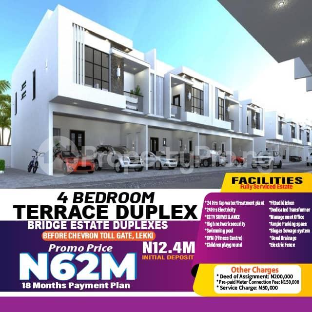 4 bedroom Terraced Duplex for sale Bridge Estate Before Chevron Tollgate. chevron Lekki Lagos - 0