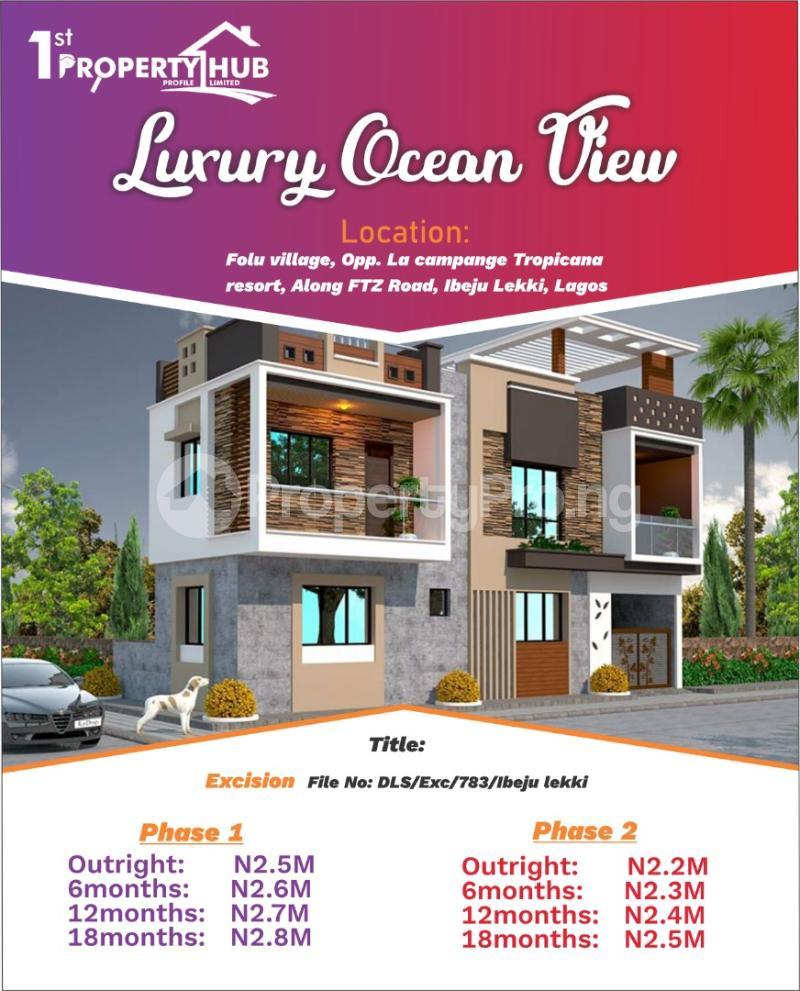 Mixed   Use Land for sale Opposite La Champagne Tropicana Beach And Resort LaCampaigne Tropicana Ibeju-Lekki Lagos - 1