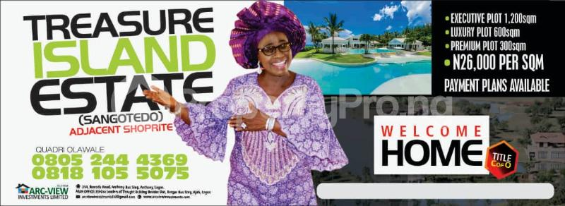 Serviced Residential Land Land for sale Treasure Island Estate, Adjacent Shoprite, Sangotedo Ajah Lagos - 0